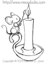 Candle Mouse