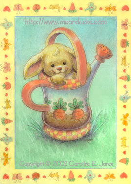Spring Bunny greeting card concept